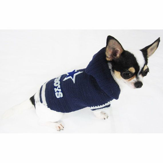 Dallas Cowboys Dog Hoodie Sweater Pet Clothes Cat by myknitt  a25f2c711