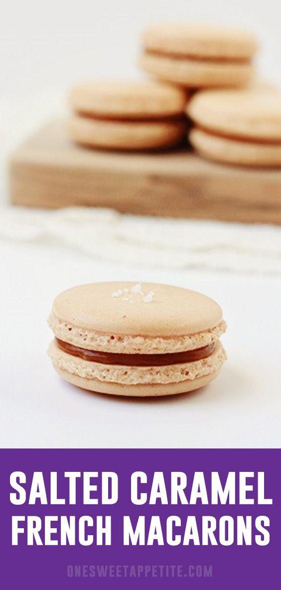 Gesalzenes Karamell French Macarons   - Macaroons -