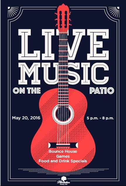 Live Music Concert event flyer poster template | Live ...