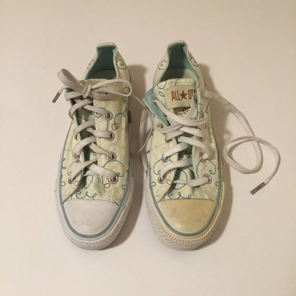 Converse All Star Light Yellow Bumble Bee Low Tops Light