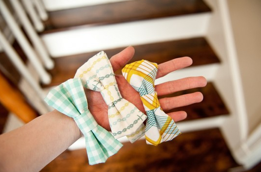 bow ties for boys or headbands for girls