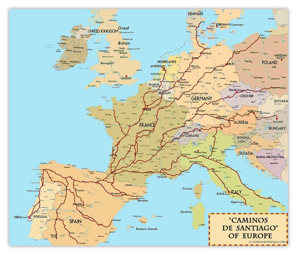 El Camino De Santiago Pilgrimage Fine Art Prints Camino De Santiago Pilgrimage Camino De Santiago Route
