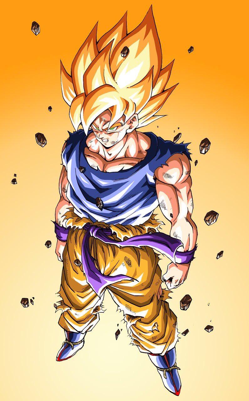 Goku SSJ | caricatures favoritas | Pinterest | Dragon ball, Dragons ...