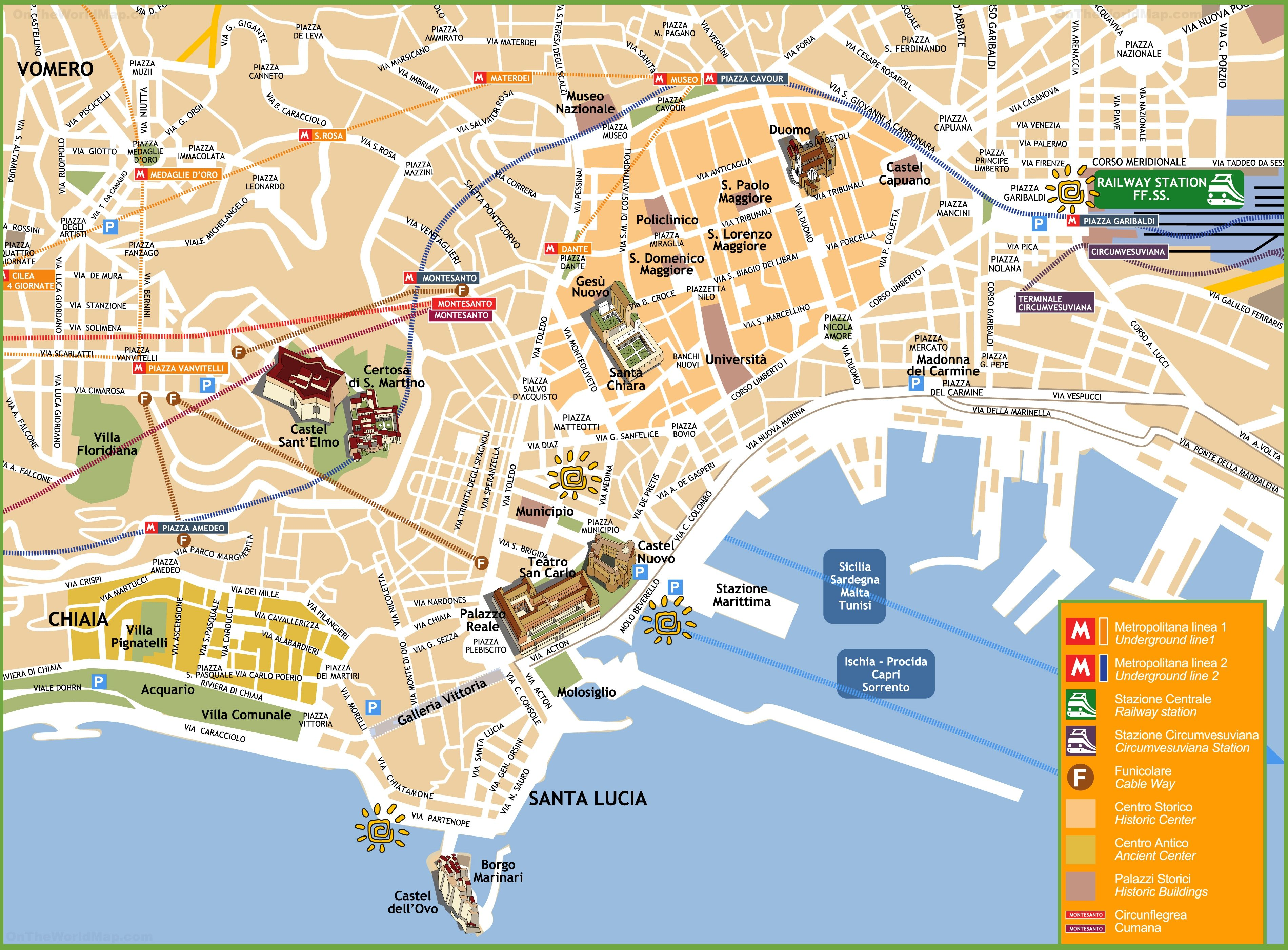 Pin By Nicole Agnese On Italy Sept Naples Map Italy Map