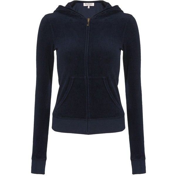 Juicy Couture Original Hooded Sweatshirt ($150) ❤ liked on Polyvore