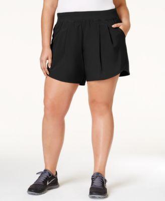 Calvin Klein Performance Plus Size Training Shorts   macys.com