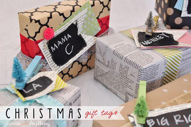 simple and fun christmas gift tags