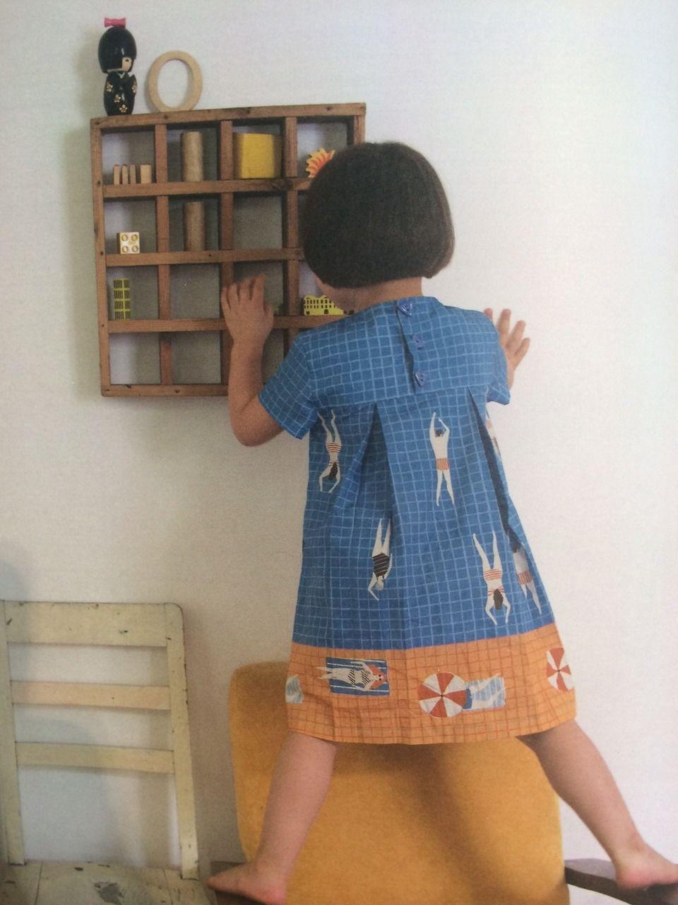 Naomi Wilkinson dress for Milk & Biscuits #kids #dress #pattern #fabrics #fabric #style #dress #beautiful #precioso #infantil #vestido #tela #estampado #niña #girl #drawing #swim #swimmer #nadador #dibujo #ilustración #illustration