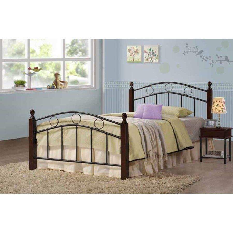 Classic Merlot And Black Twin Metal Bed Greenbelt Twin