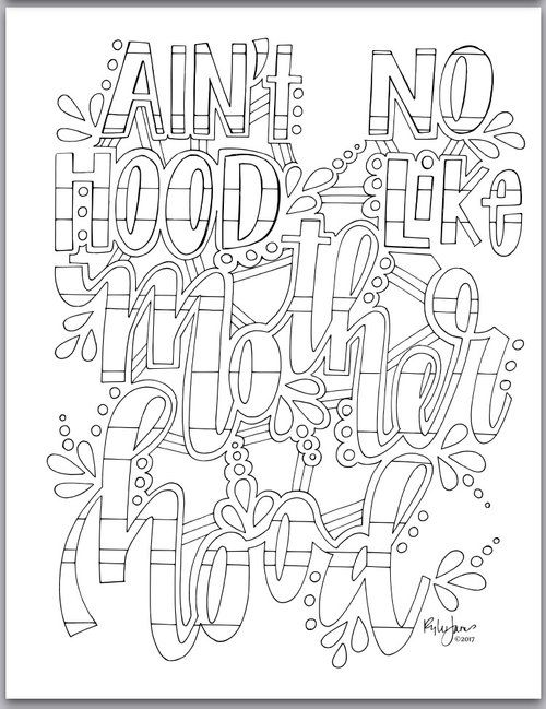 Pin By Highly Favored On Color Me Quotes Coloring Pages Adult