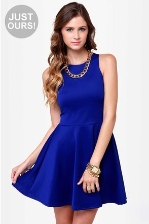 Exclusive Wanna Race? Royal Blue Dress | Na..., Arm candies and ...