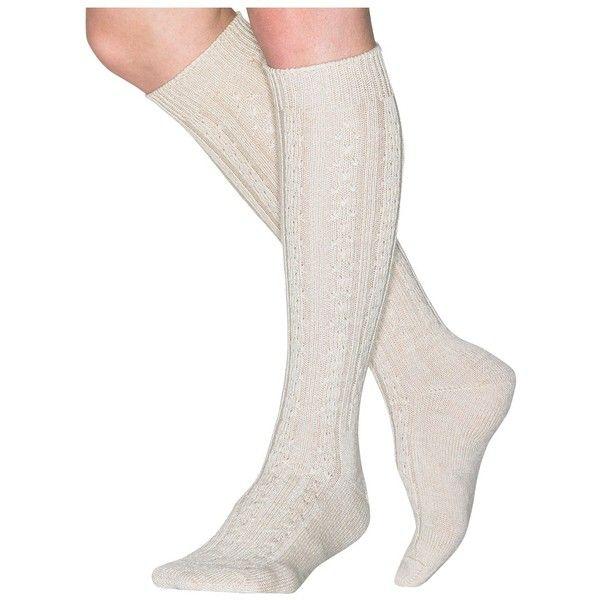 212a7cd7b Wigwam Women s Classic Wool Cable Knee High Socks - Oatmeal ( 14) ❤ liked  on Polyvore