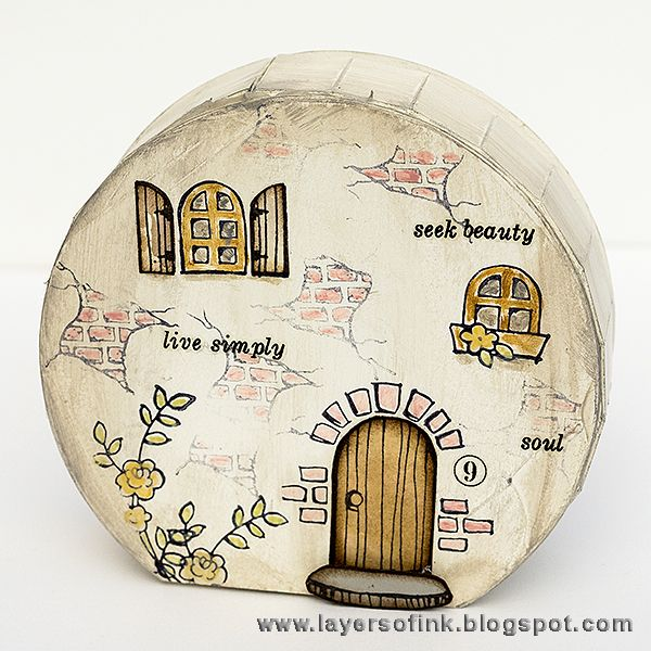 Layers of ink- Fairy Tale Cottage/Hobbit House tutorial by Anna ...