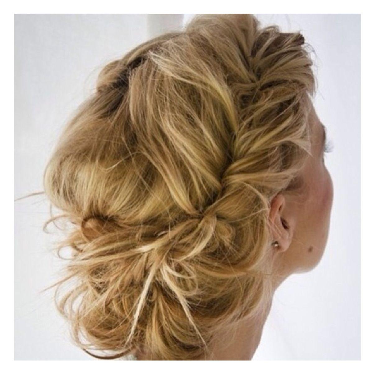 Wedding Hairstyle Messy Bun: Another Great Messy Bun! #Wedding Hair!