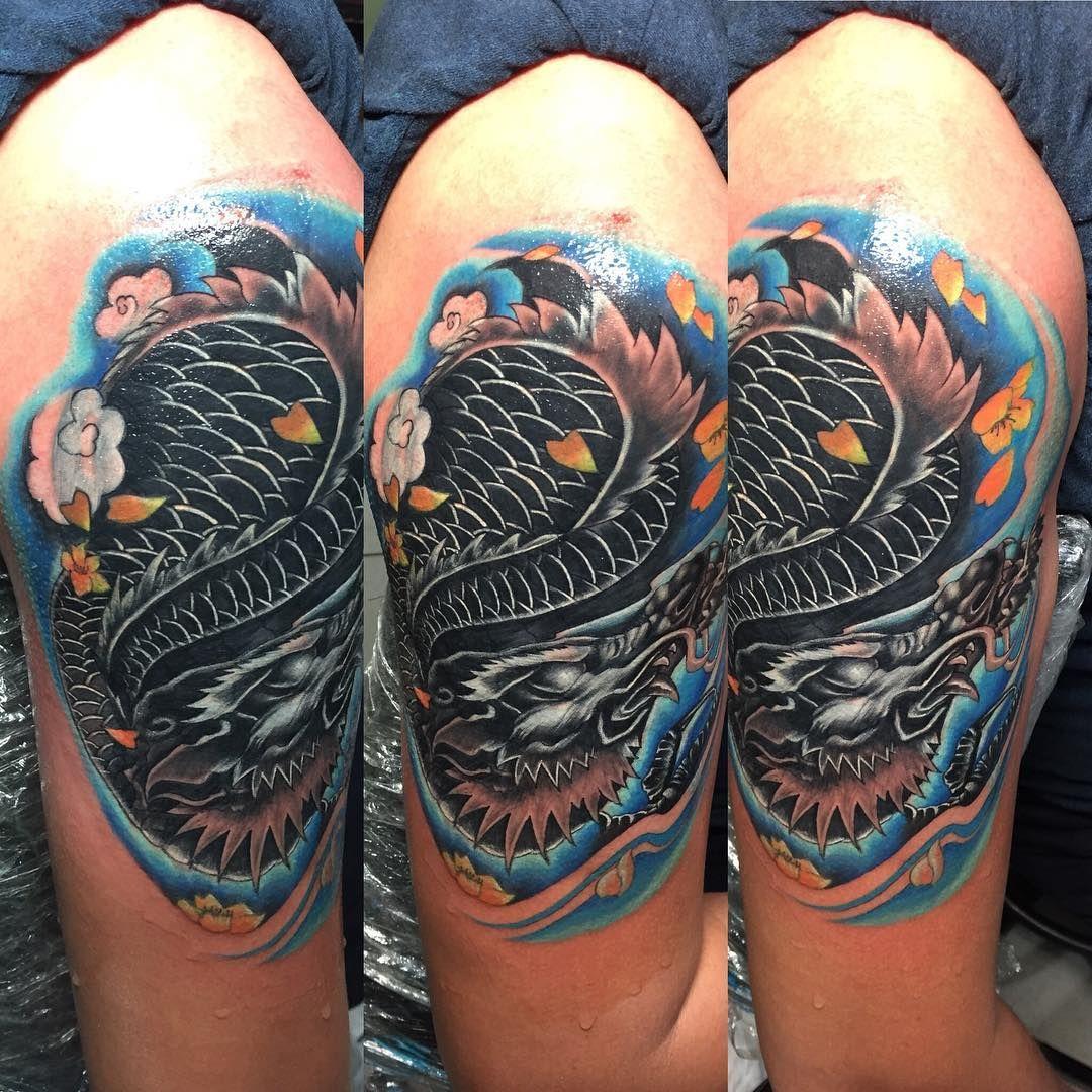 Ziggi Yovandio Di Instagram Cover Up Tattoo With Dragon Coveruptattoo Dragontattoo Dragoncolortattoo Colortattoo Coverup Tattoos Tattooindonesia Bestt