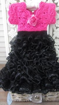 Pink and Black Dress for a little Princess
