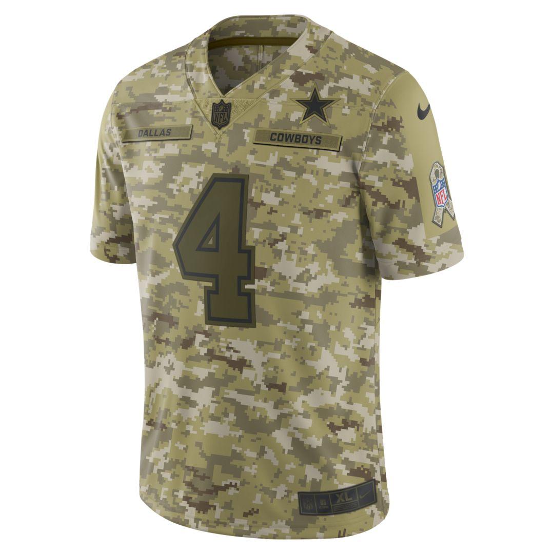 6587409875c NFL Dallas Cowboys Salute to Service Limited Jersey (Dak Prescott) Men's  Football Jersey Size M (Camper Green)