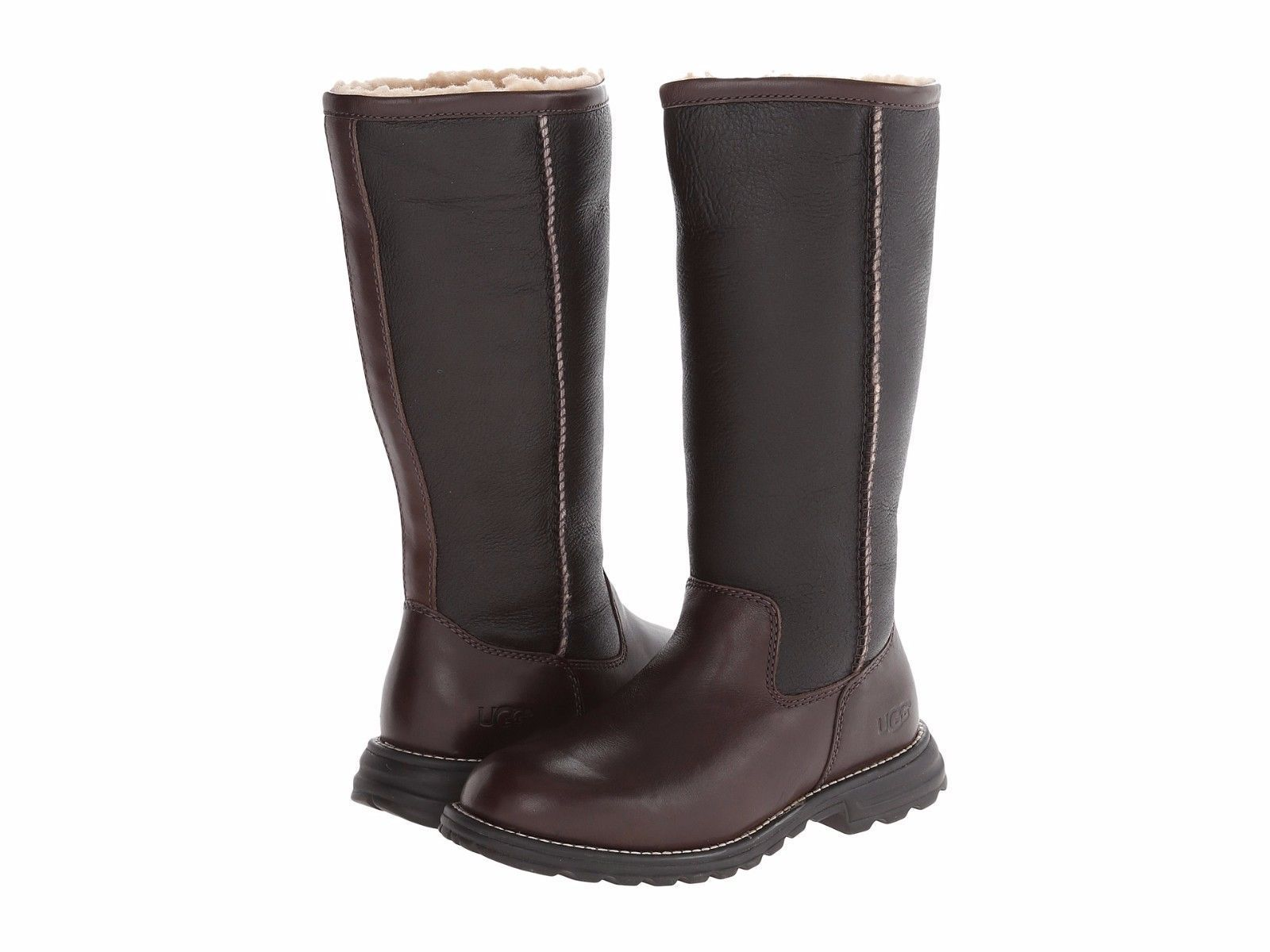 Women's Shoes UGG Brooks Tall 5490 Leather Boots Brown ...