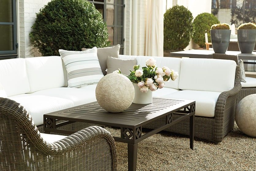 Suzanne Kasler Updates Her Outdoor Space. Patio IdeasLandscaping IdeasBallard  DesignsOutdoor Living SpacesFurniture ...