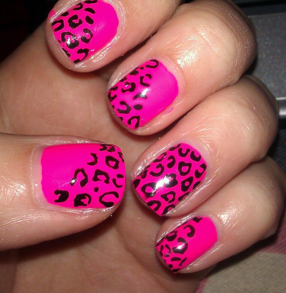Hot pink and leopard | Nails | Pinterest | Leopards, Hot pink and Pink