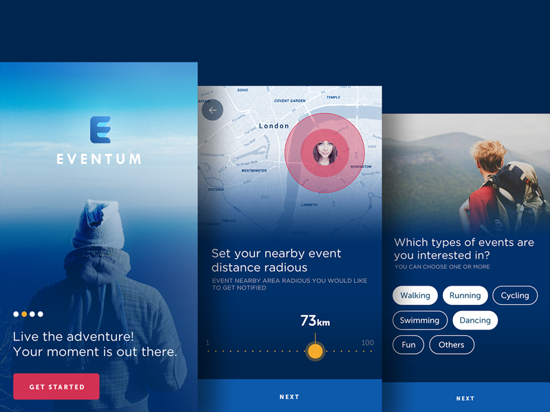 Onboarding inspiration for mobile apps | Design inspiration ...