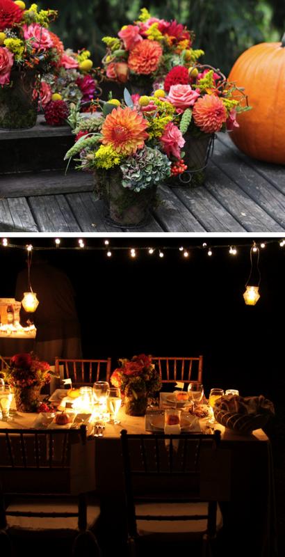 autumn dinner party