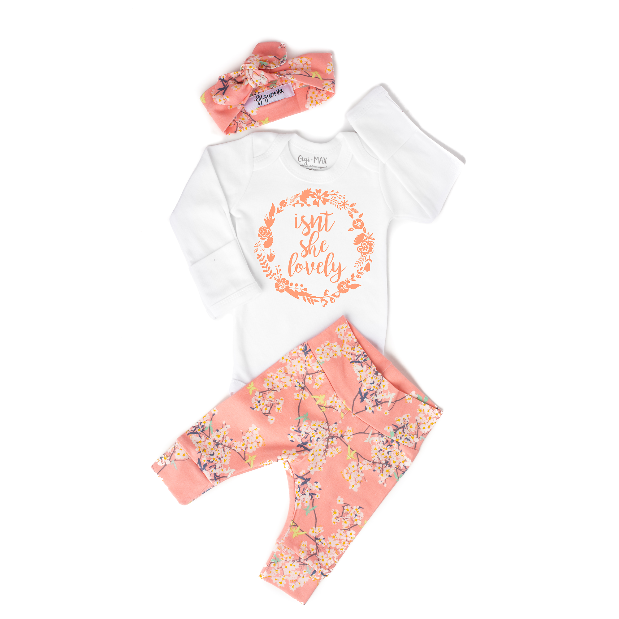 Isn T She Lovely Pink Floral Newborn Outfit Baby Coming Home Outfit Baby Hospital Outfit Coming Home Outfit