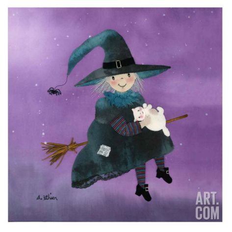 The Witch Art Print by Diane Ethier at Art.com