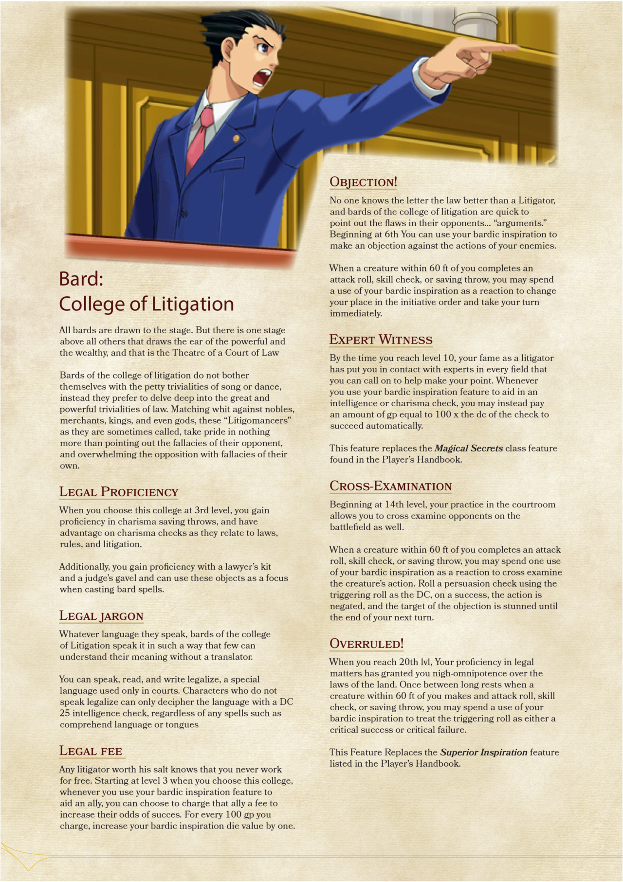 Pin by Jason Wolf on 5th edition | Bard college, Dnd 5e homebrew