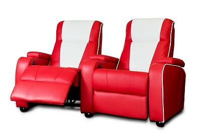 Details about The Original Metro Retro Movie Chair Home Cinema Seating Sofa Red Double Theatre