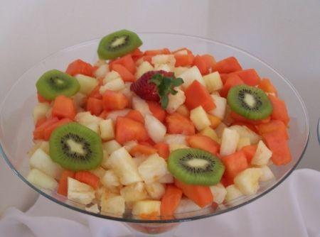 Mousse de Salada de Fruta -