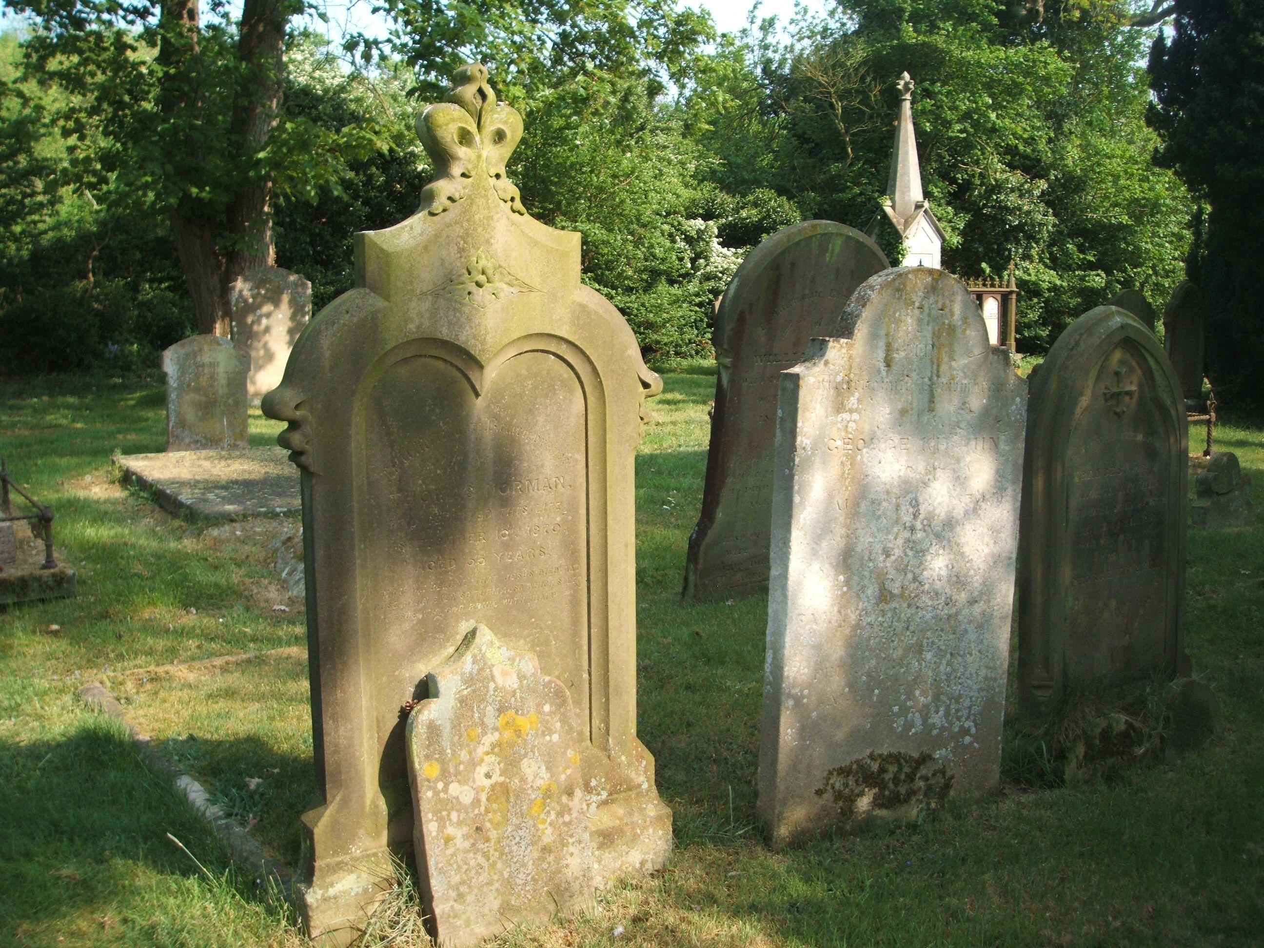 Headstone - Potton Churchyard
