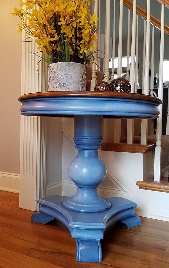 Best Available Blue Gray Drum Table Side Table Bedside Table 400 x 300