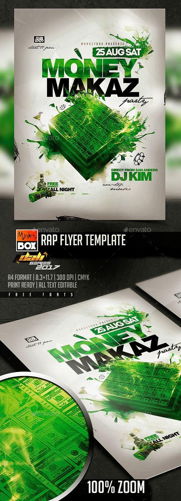 rap flyer template pinterest flyer template template and fonts