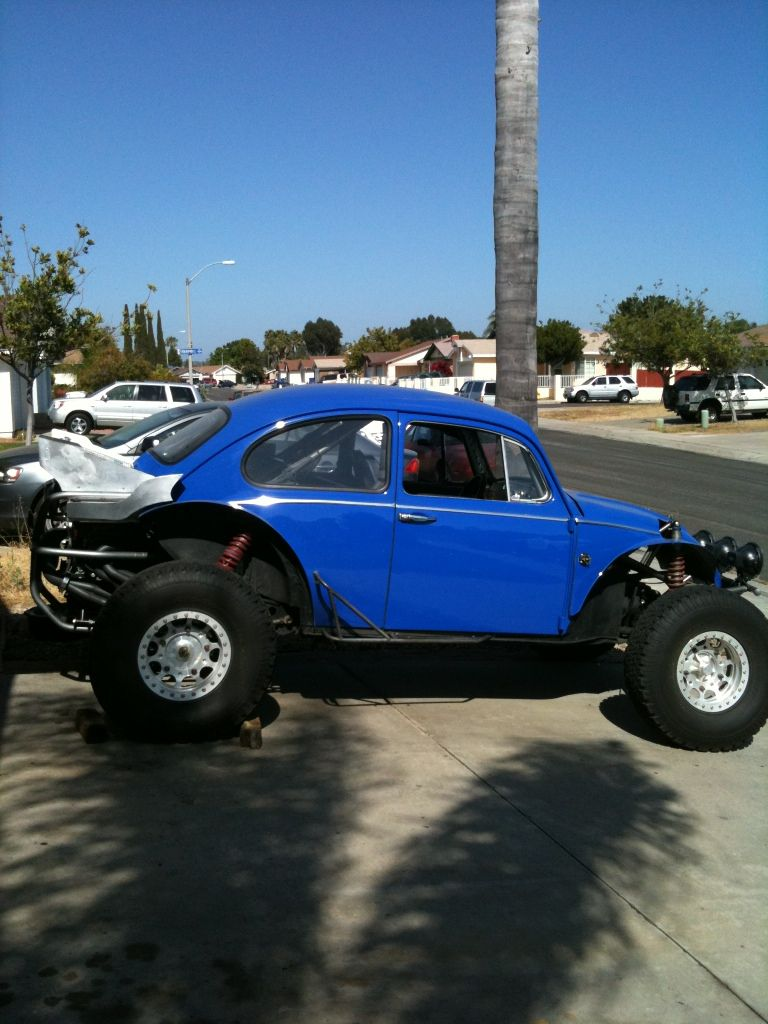 Jacked Up Blue Bug Sara Blue Air Cooled Baja Bug Vw Baja