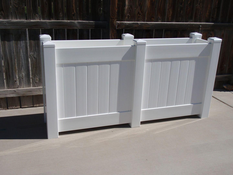 Vinyl Raised Bed Garden Planter Box For Patio Raised