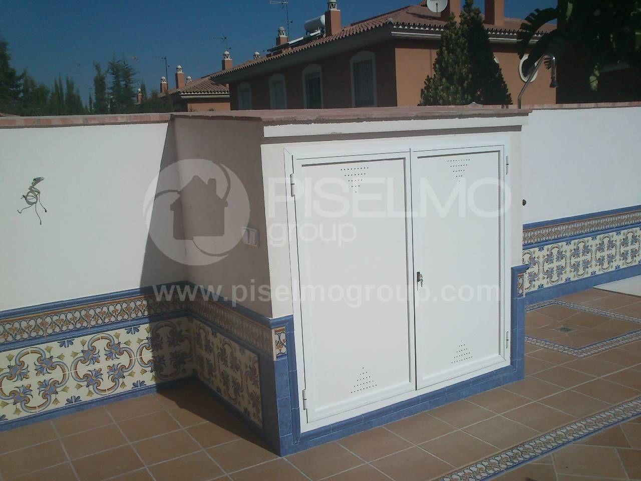 Caseta De Obra Para Equipo De Filtracion De Piscinas Con Zócalo Alicatado  #piscinas #construcción #reformas #Málaga #AlhauríndelaTorre #CostadelSol
