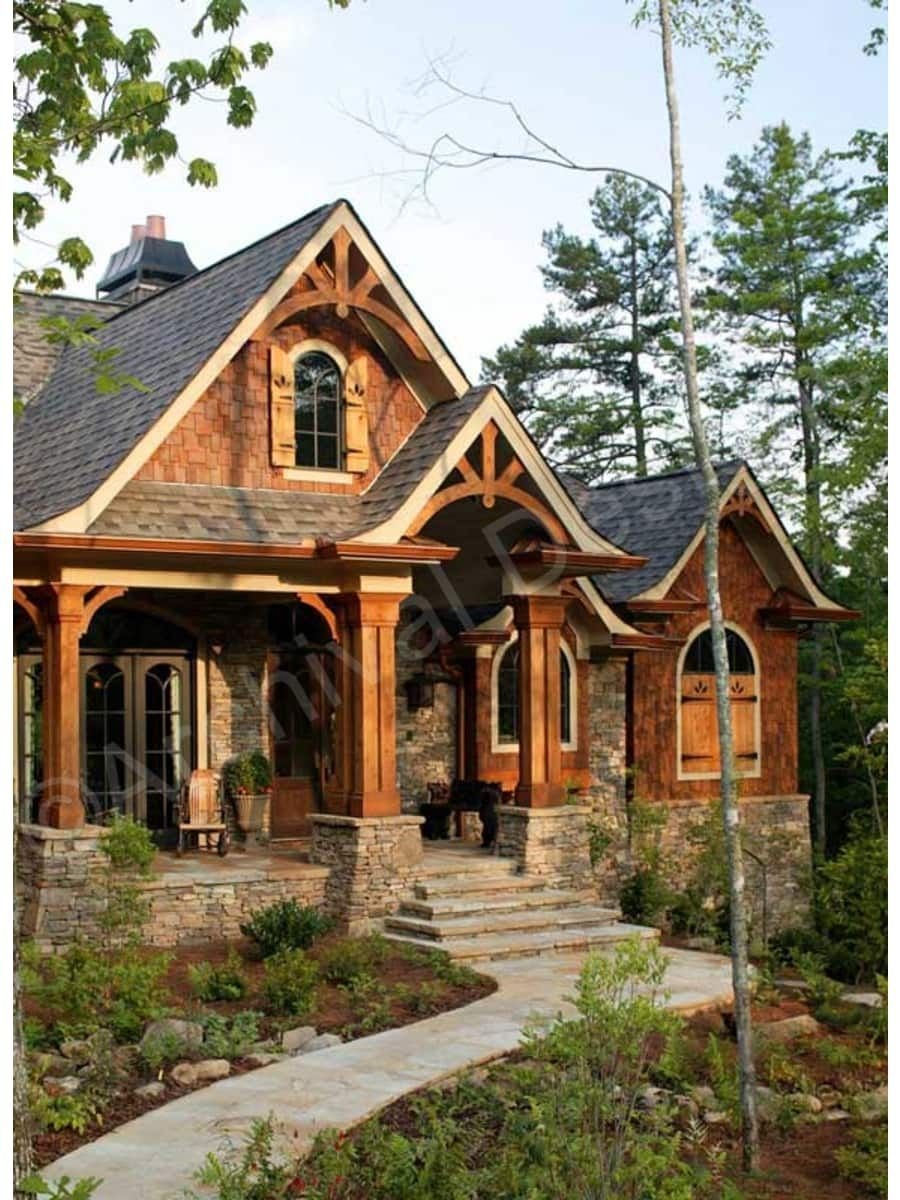 Log Cabin Logs Rustic House Plans Craftsman Style House Plans Cottage House Exterior