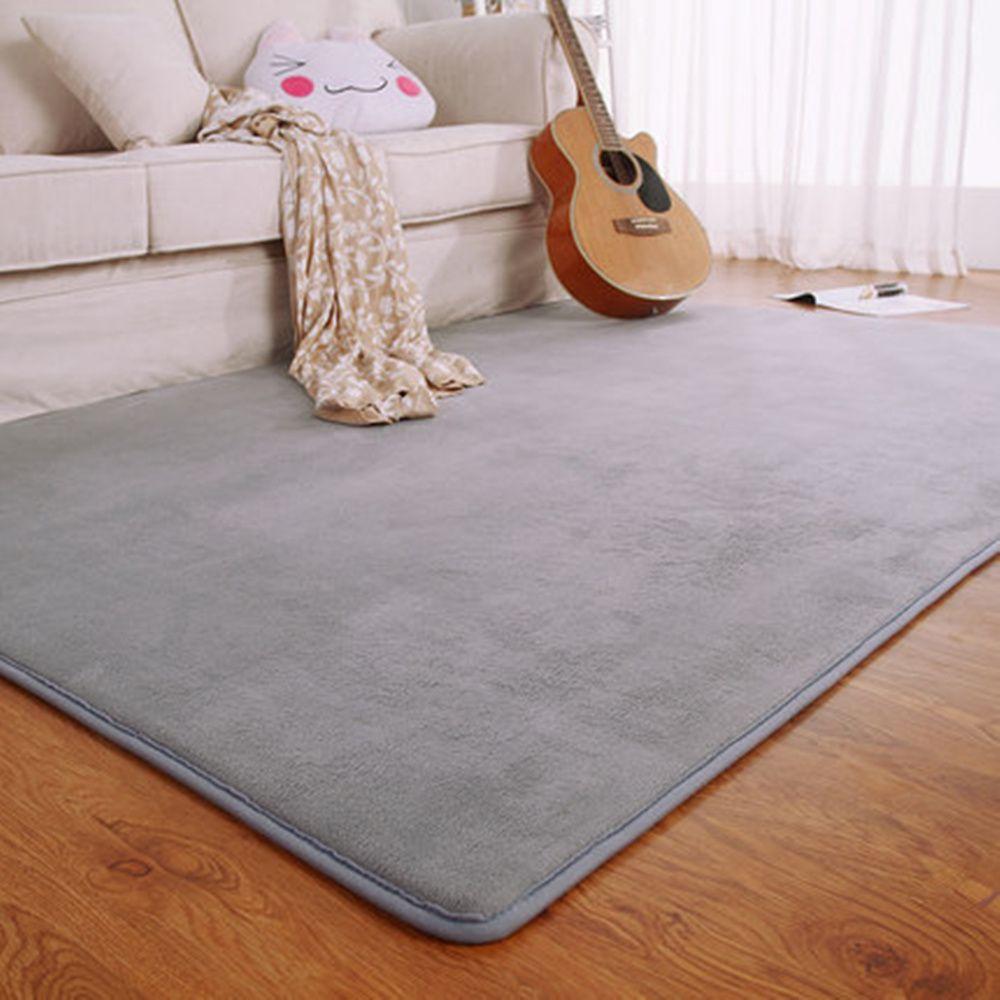 Buy Online Adasmile Fashion Memory Foam Solid Mat Area Rug Bedroom