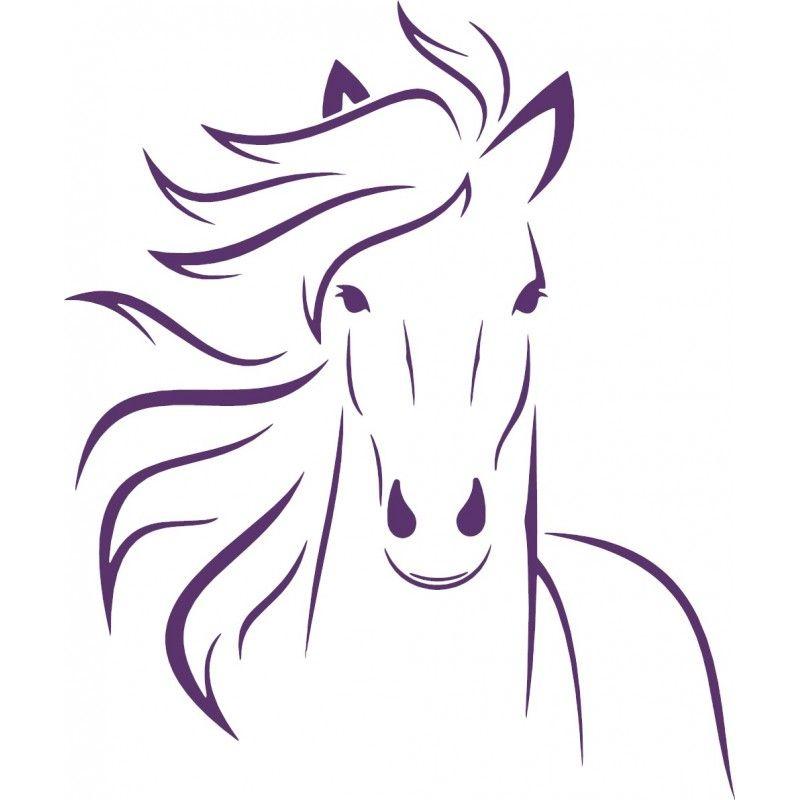 wandtattoo sticker aufkleber deko mädchen pferdekopf