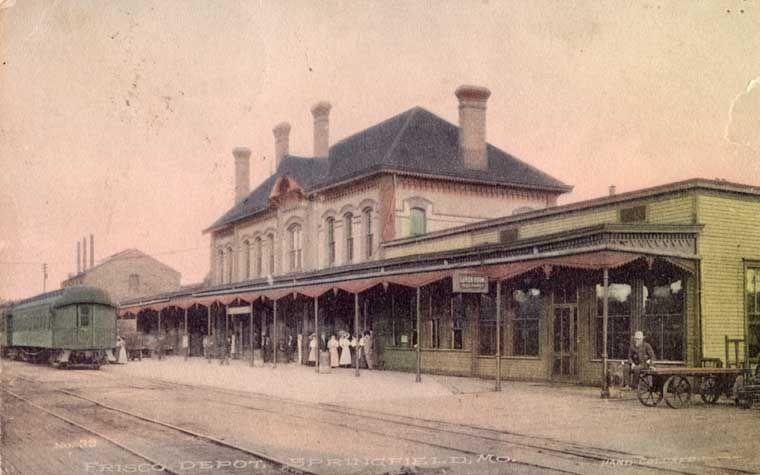 Frisco Postcards: Springfield, Missouri, Depots