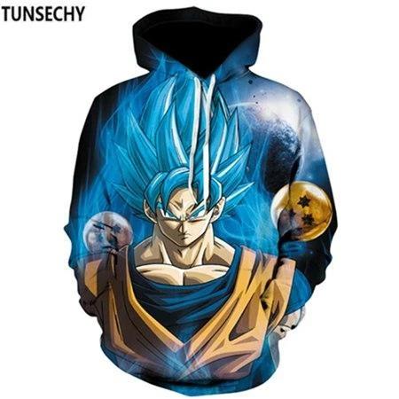 Men Women Dragon Ball Z Super Hoodies DBZ Sweatshirt Goku Anime Pullover Jacket