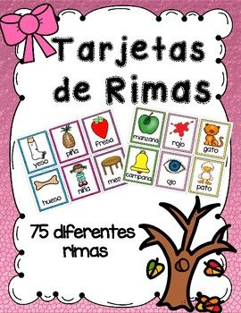 Tarjetas De Rimas En Español Rhyming Words Cards In Spanish Rhyming Words Preschool Activity Cards