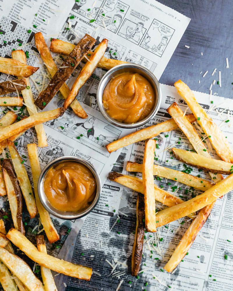 Best Parmesan Truffle Fries A Couple Cooks Recipe Truffle Fries Parmesan Truffle Fries Gourmet Entrees