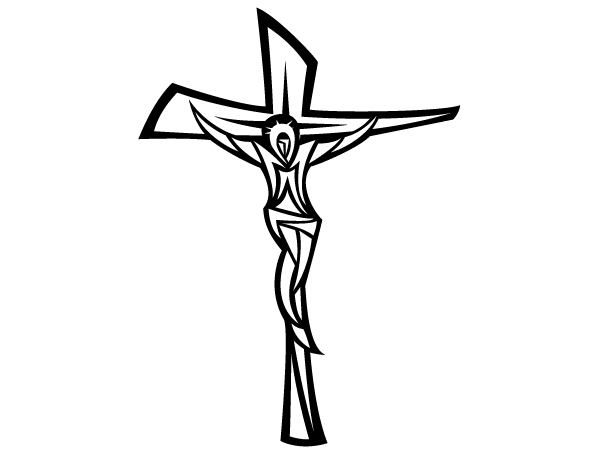 crucifix clipart black and white clipart panda free clipart rh pinterest com jesus on the cross clipart free jesus on the cross clipart images