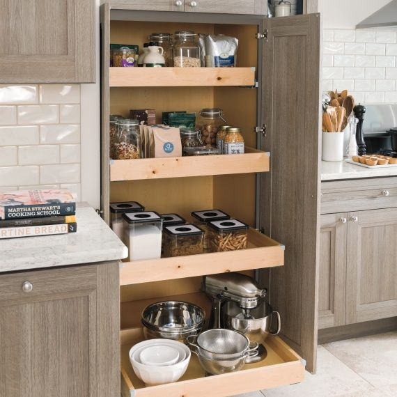 Creating A Kitchen For Entertaining: Kitchen Add-ons Like SuperCabinets™, Roll-out Pantries