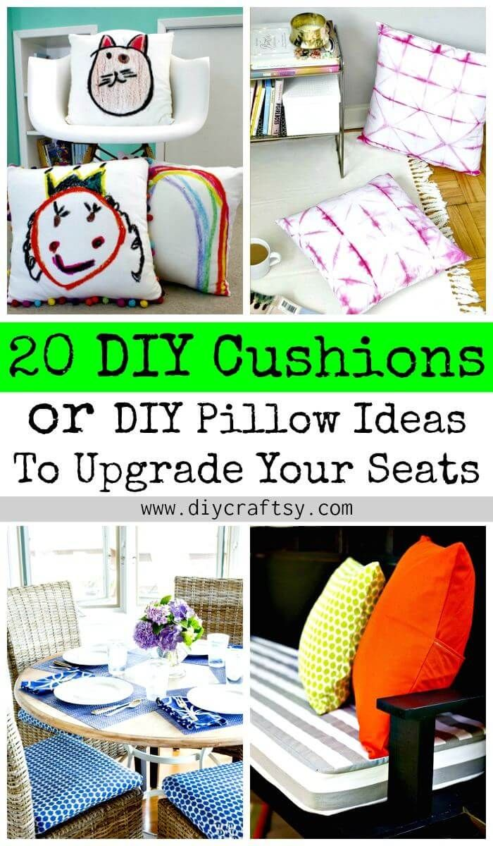 diy cushions or diy pillow ideas to upgrade your seating see my