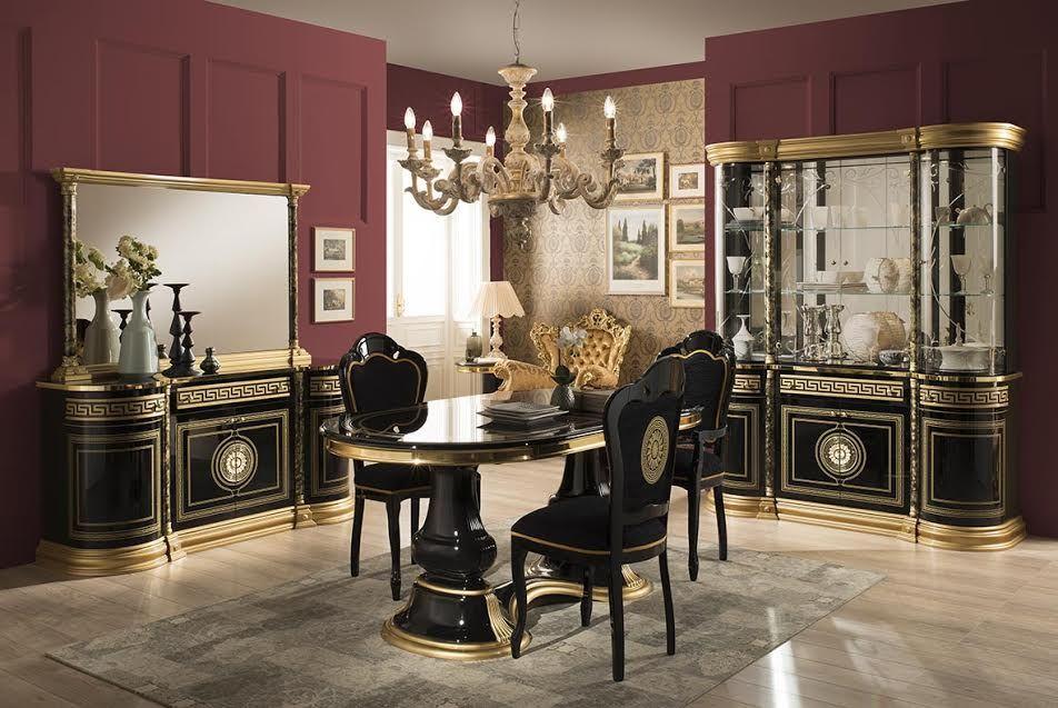 Ensemble de meubles comprenant Vitrine 4 portes + Buffet + Table à