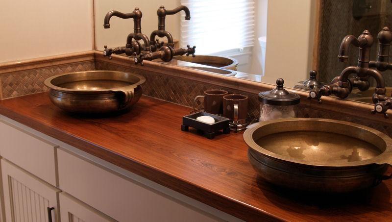 20 Bathrooms With Wooden Countertops Wooden Countertops Wood