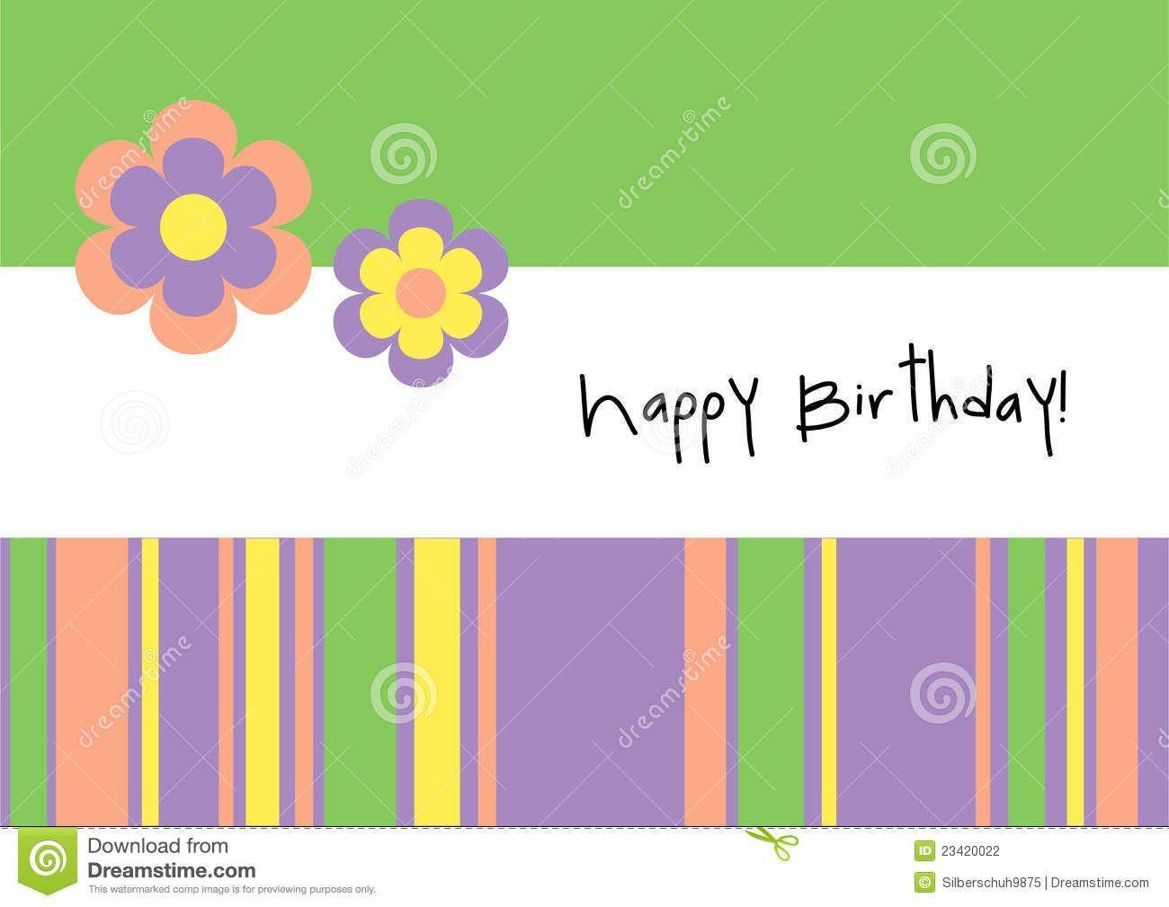 Geburtstagskarte fur word